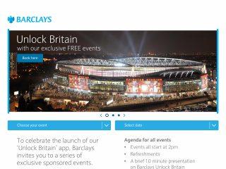 Barclays microsite