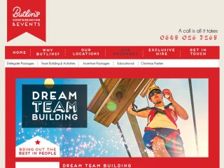 Butlins - website re-skin